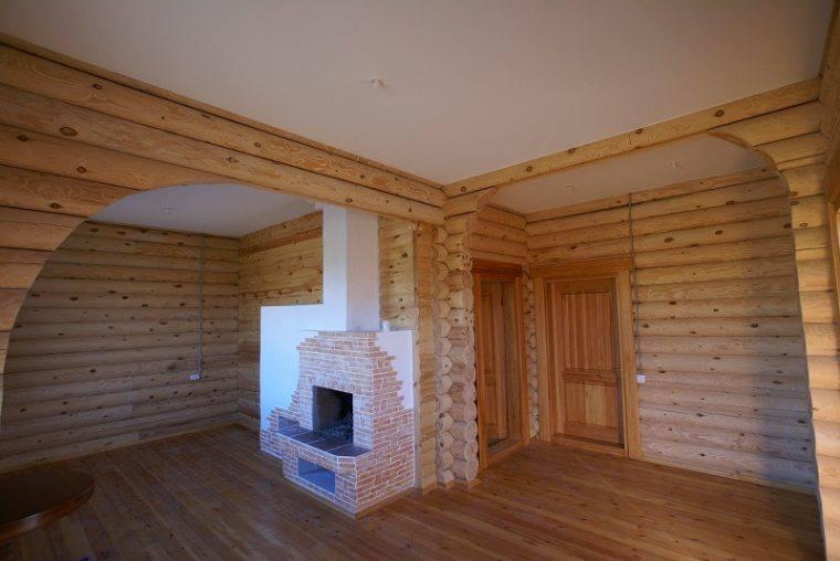 Потолок в деревянном доме Гипсокартон