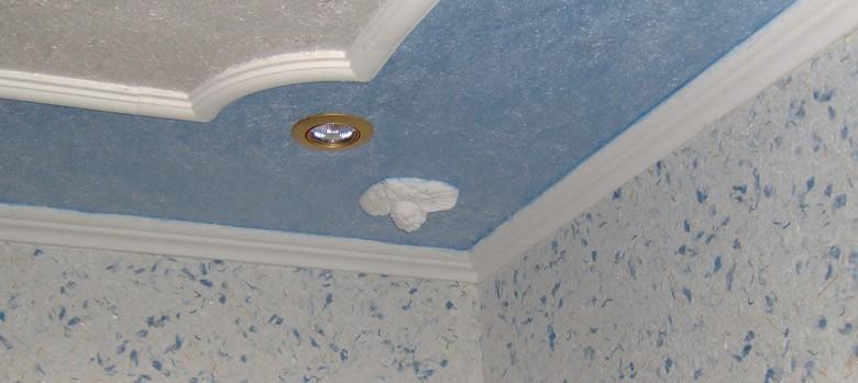 Потолок в прихожей Декоративная штукатурка