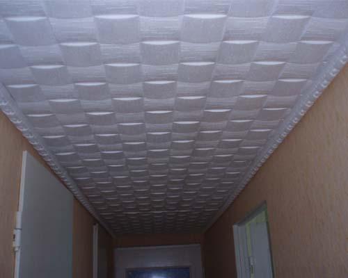 Потолок в прихожей пенопластовая потолочная плитка