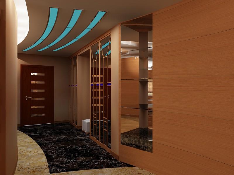 Потолок в прихожей позволяет уменьшить пространство
