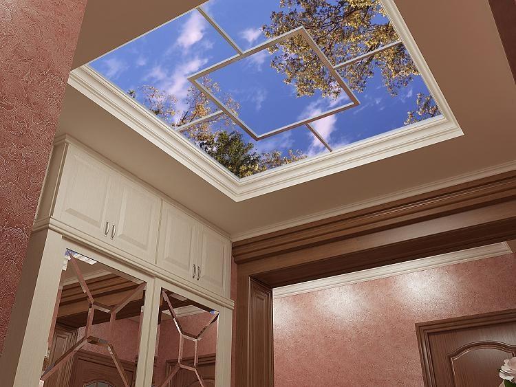 Потолок в прихожей с 3D рисунками