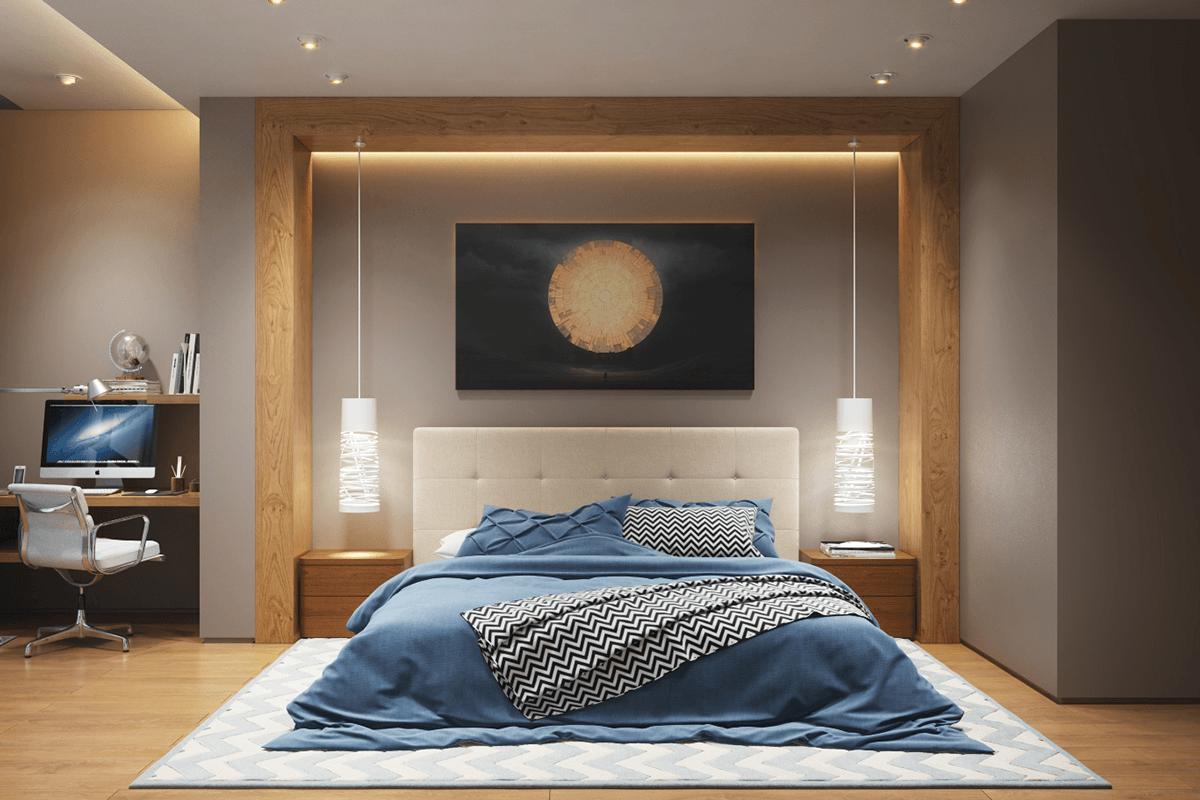 Спальня потолочное освещение