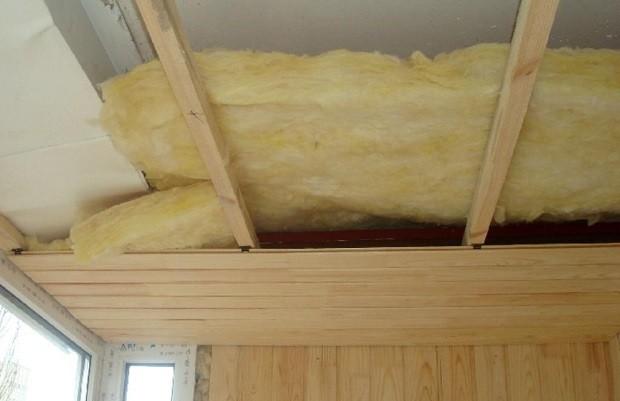 Стекловата утеплитель для потолка