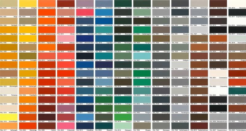 Цветовая гамма реечных потолков