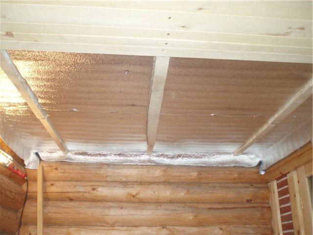 баня потолок пароизоляция