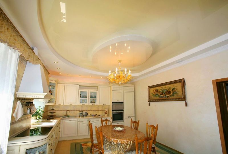 чаепитие на кухне фото потолки