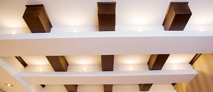 декоративные балки на потолок Изгипсокартона или полиуретана