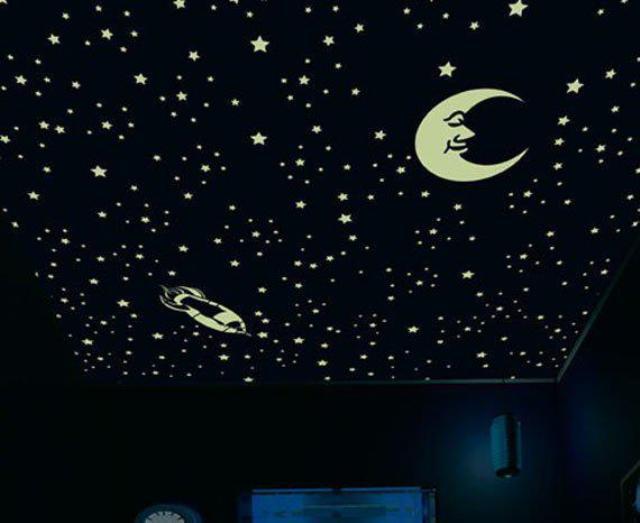 образ звездного неба в детской комнате