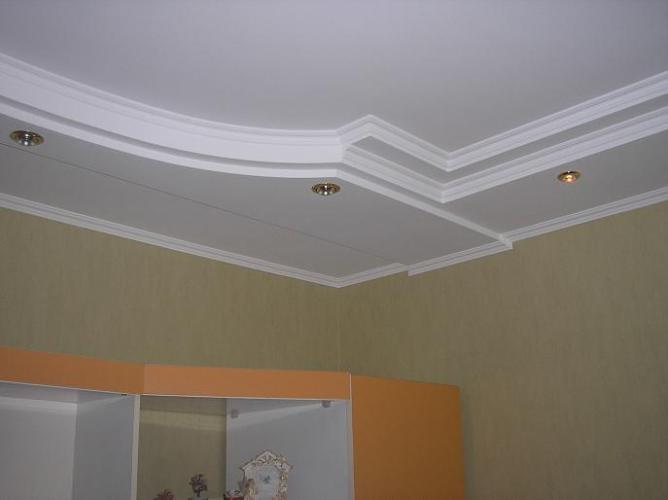 отделка потолка гипсокартоном