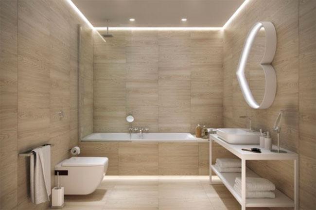 подвесной потолок в ванной комнате Гипсокартон
