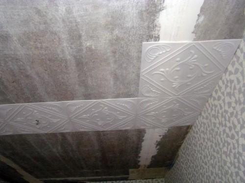 потолочная плитка из пенополистирола Монтаж