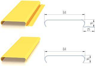 Реечный потолок албес открытого и закрытого типа