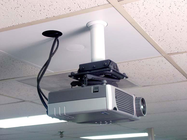 установка кронштейна потолочного проектора армстронг