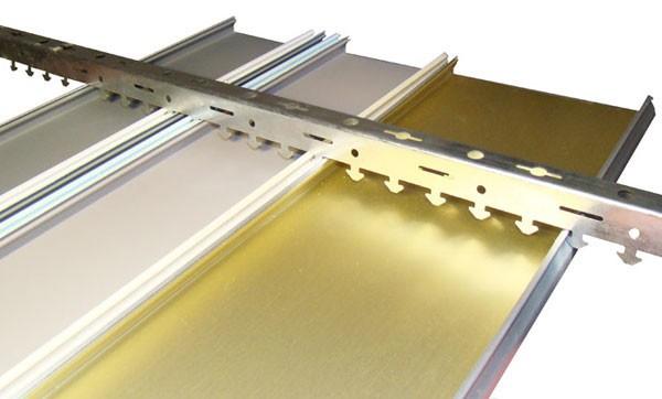 Элементы конструкции алюминиевый реечный потолок