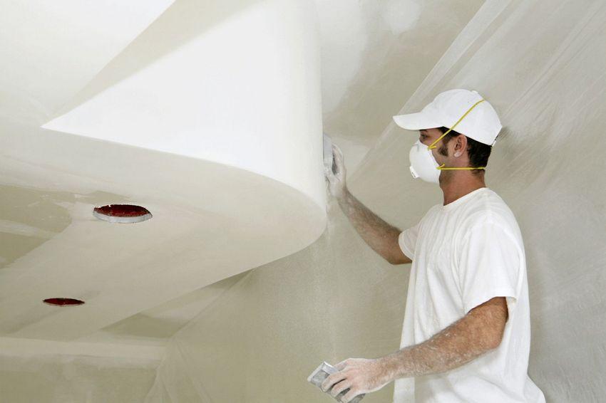 Финишная отделка подшивного потолка