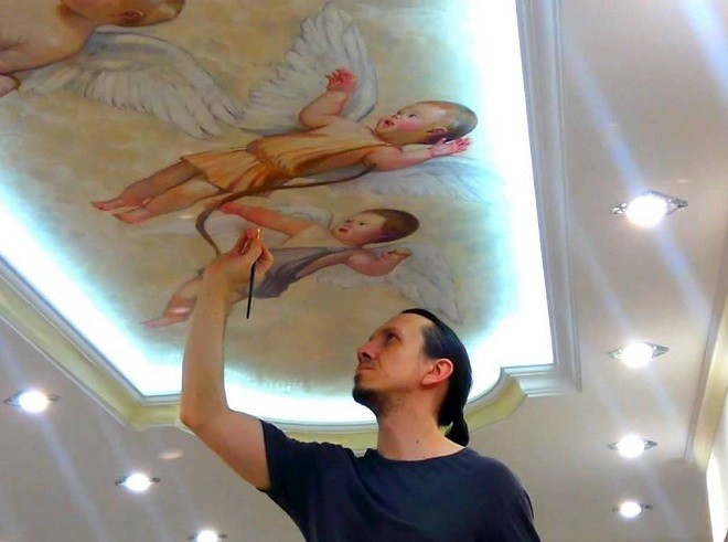 Художественная роспись потолков