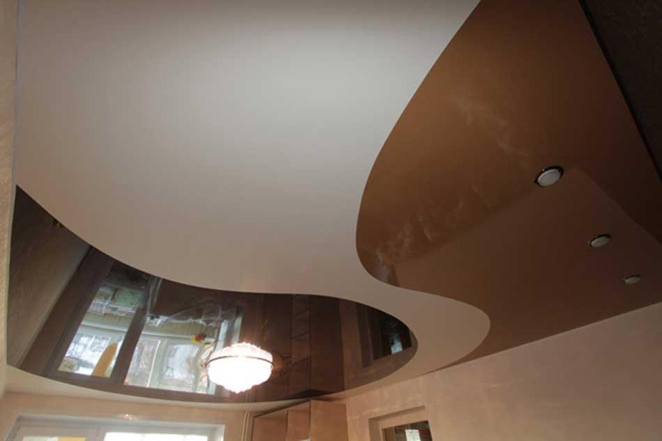 Комбинированные натяжные потолки из пленки ПВХ