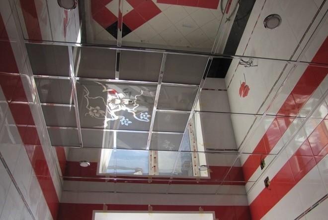 Комбинированные потолки стекло