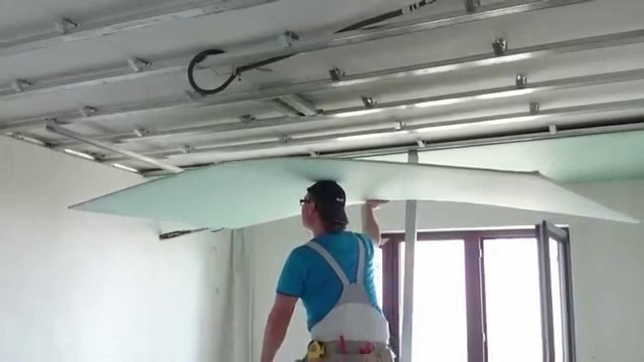 Подшивка потолка гипсокартоном: пошаговая инструкция