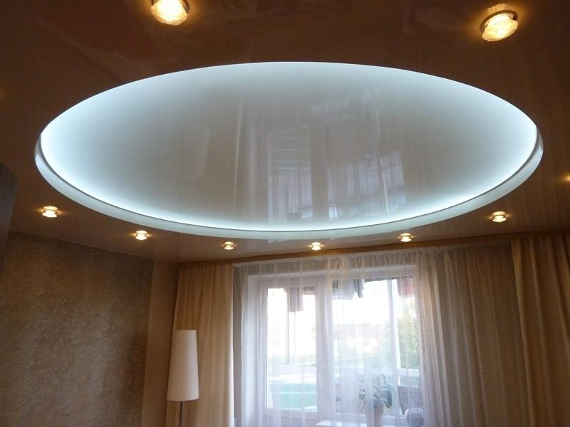 Парящие натяжные потолки - особенности подсветки, монтаж своими руками