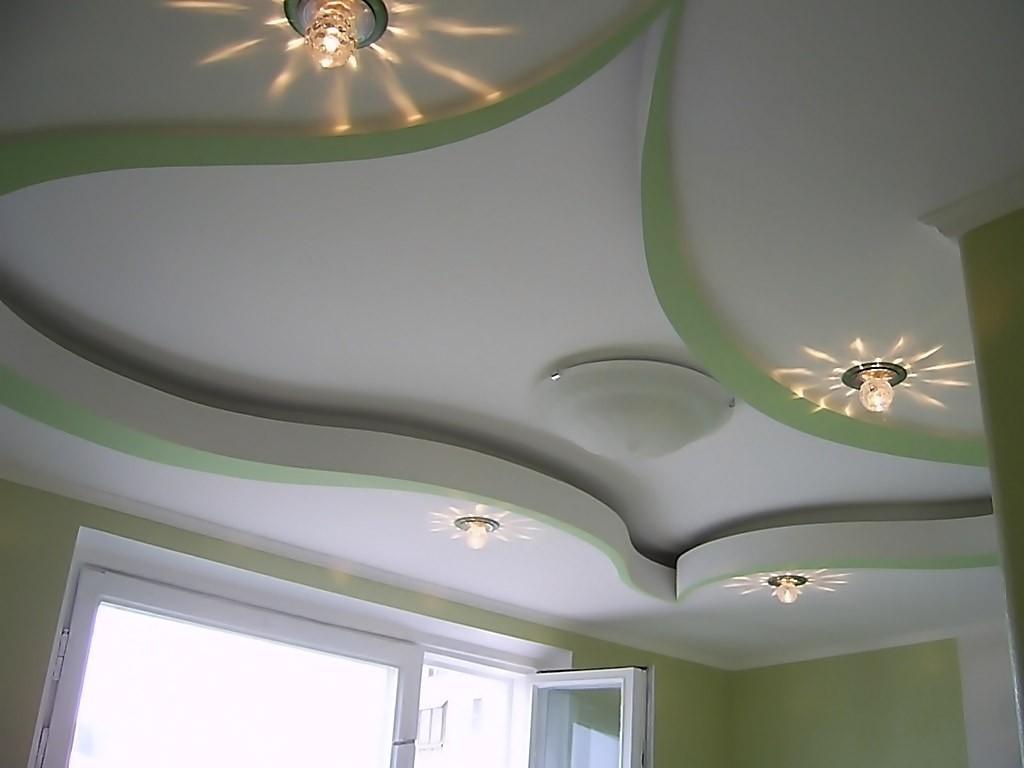 Потолки из гипсокартона в интерьере