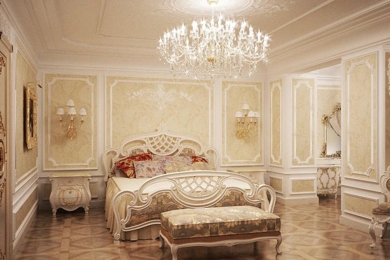 Потолочная розетка интерьер в стиле барокко