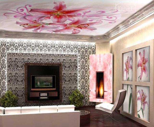 Потолок с фотопечатью для зала