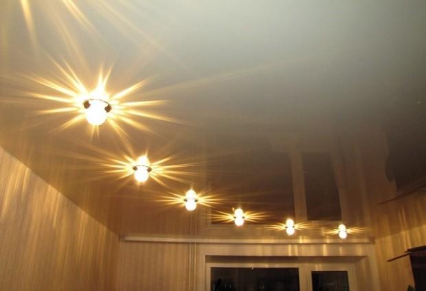Правила размещения точечных светильников