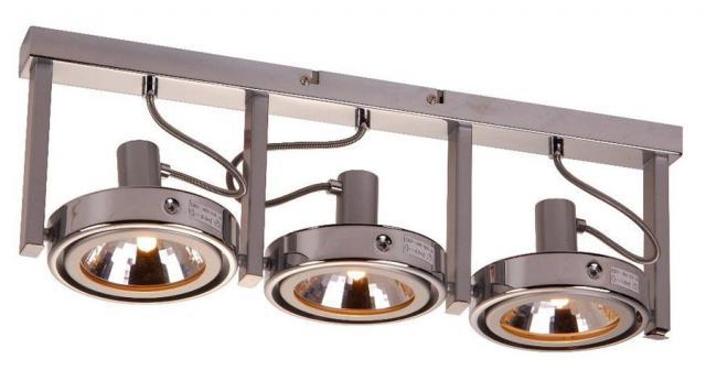 установка спотов в натяжной потолок возможна под разными углами