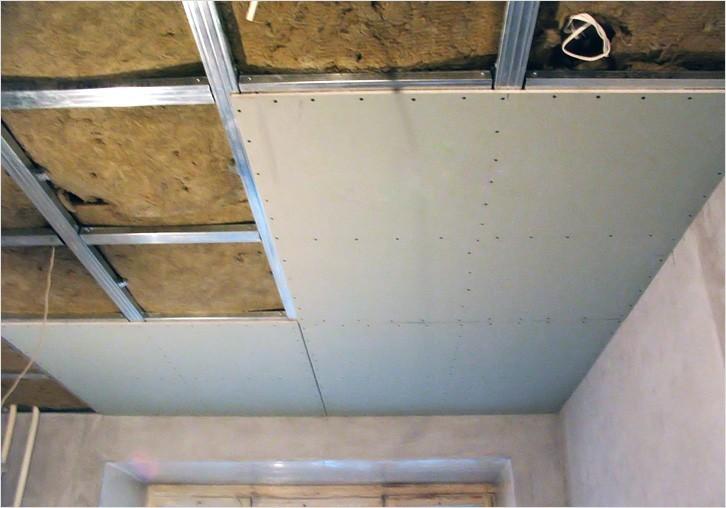 Как обшивать потолок гипсокартонном
