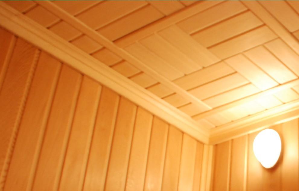 Как сделать красивый потолок в парной
