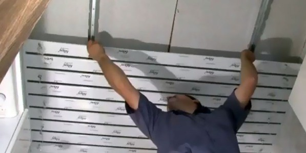 Крепление потолочных реек