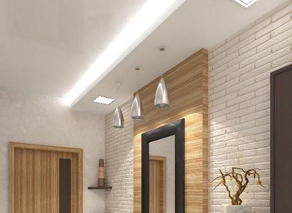 Навесные потолки в коридореиз гипсокартона
