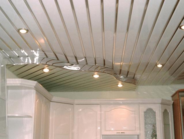 Область применения металлических реечных потолков