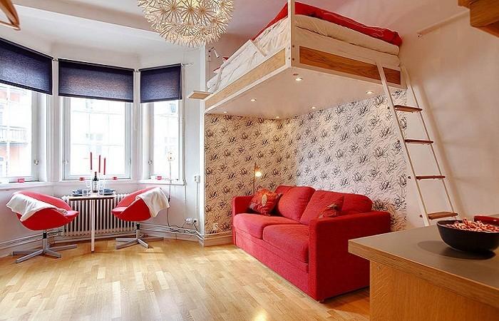 Особенности установки кровати под потолком