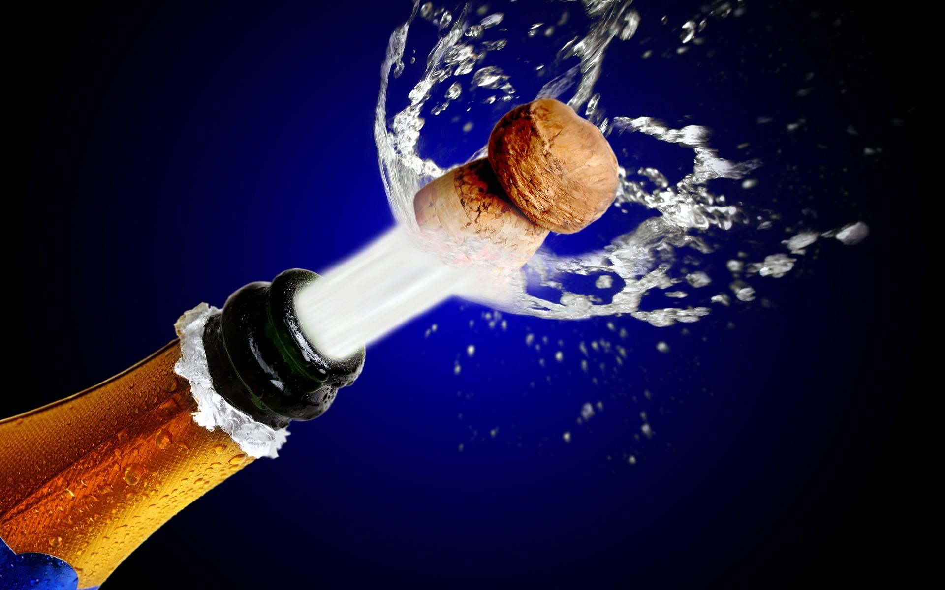 От шампанского