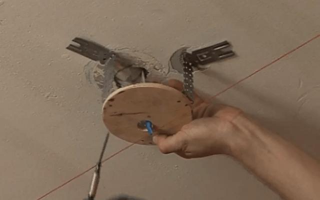 Подготовка закладных для светильников
