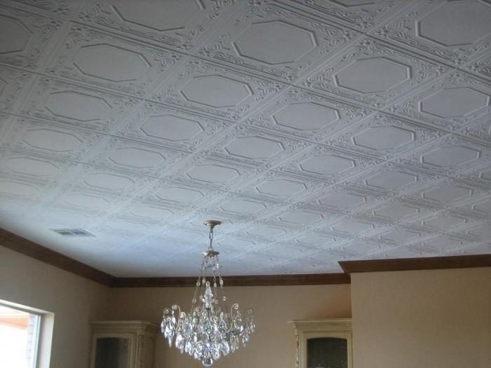 Позиционирование плитки на потолке
