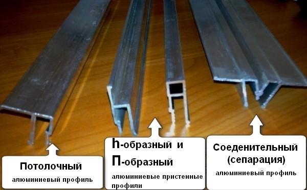 Профиль из алюминия для натяжных потолков