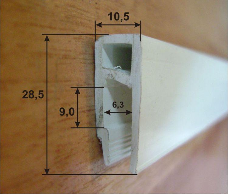 Размеры багет для натяжных потолков