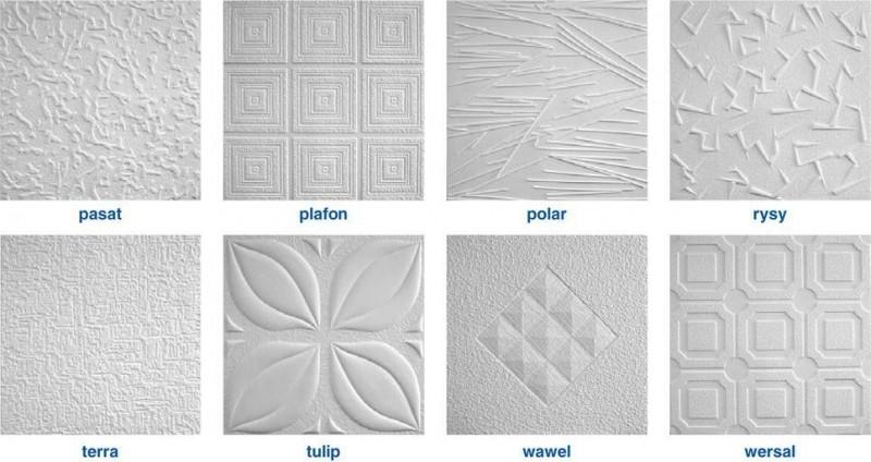 Типы плитки для потолка