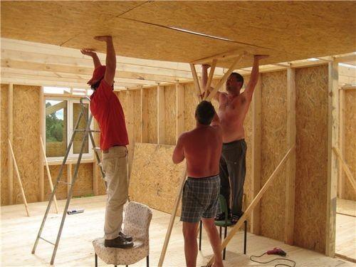 Чем отделать потолки на даче