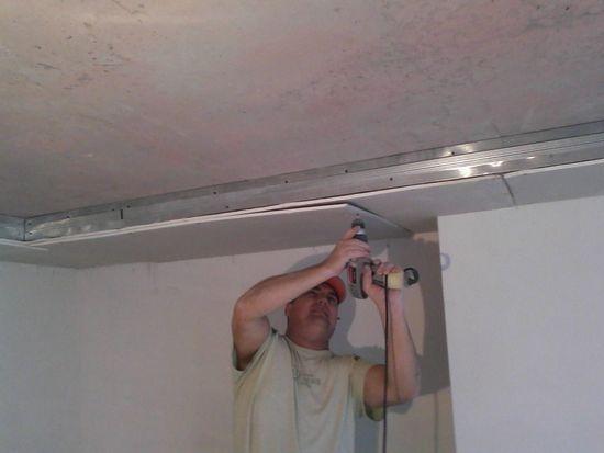 Делаем короб из гипсокартона на потолке своими руками