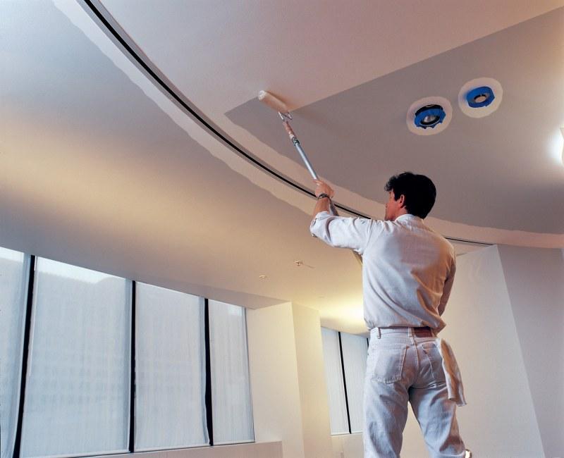 Лучшие акриловые краски для потолка наливной пол электрощитовой