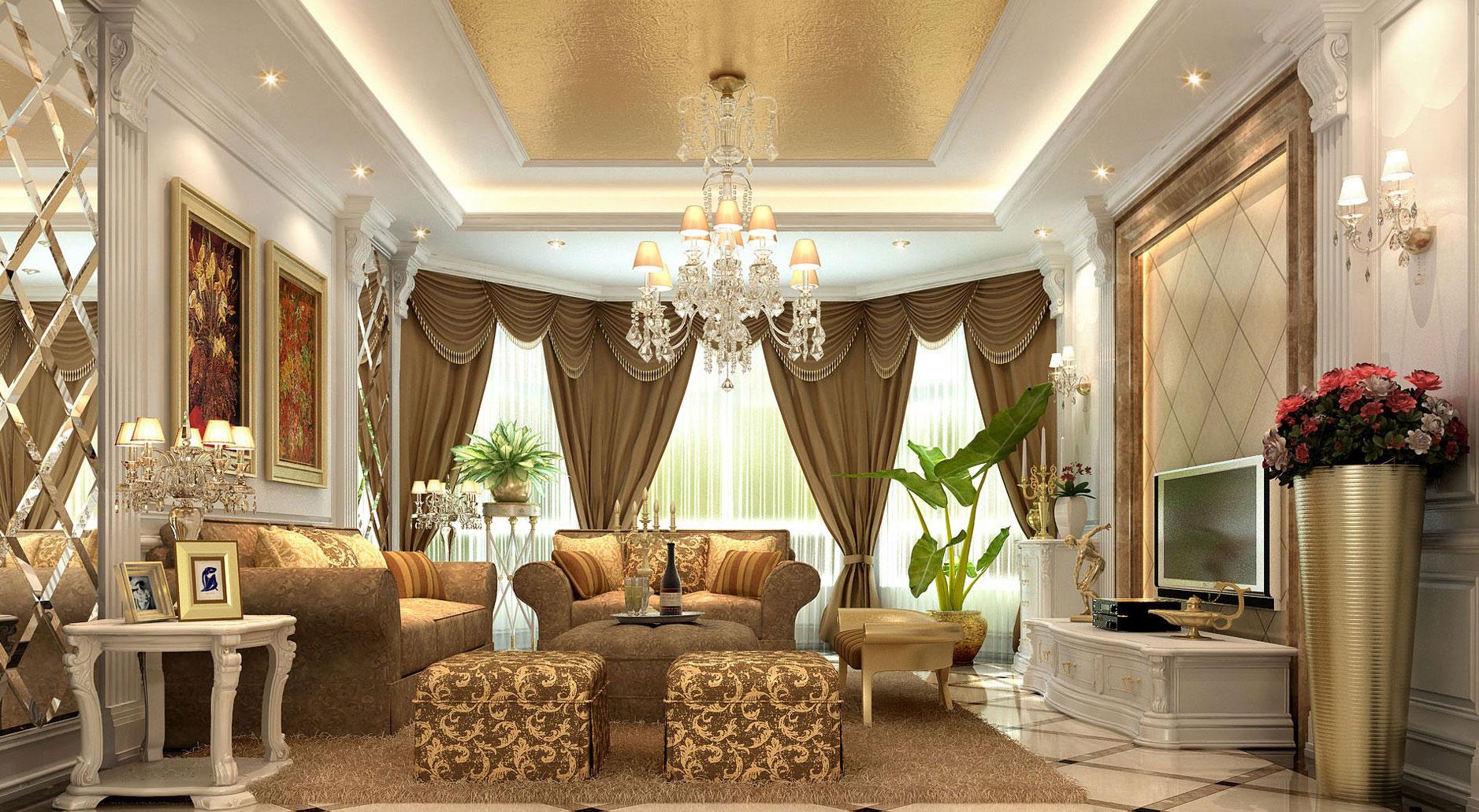 Многоярусные люстры в гостиную