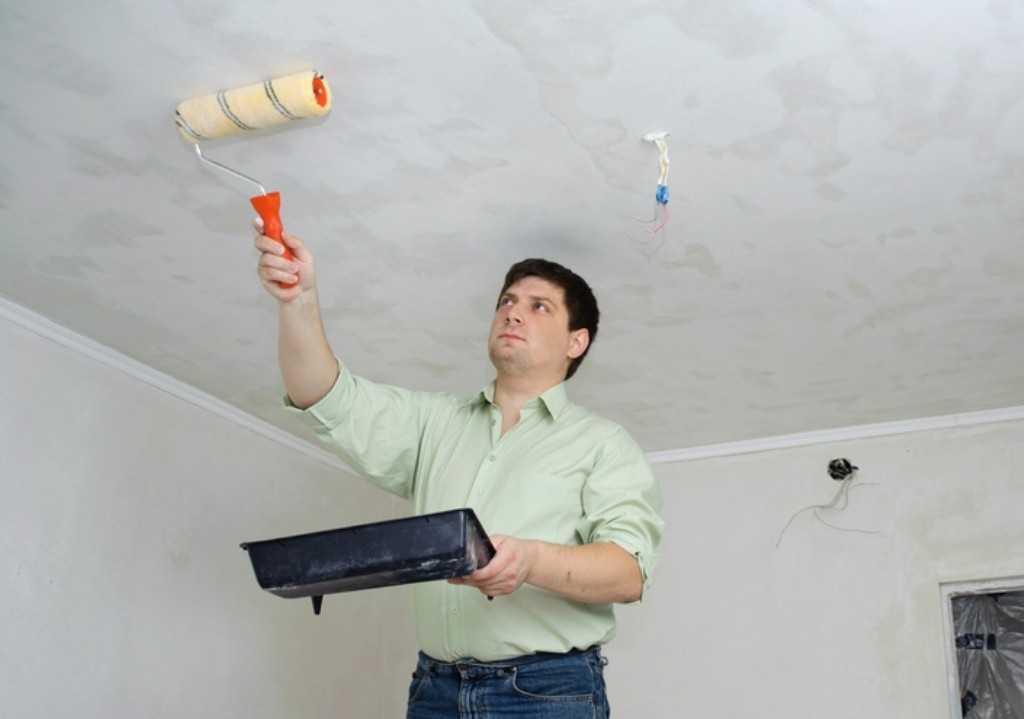 Окраска и побелка потолка