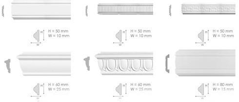 Ширина потолочного плинтусаи его форма