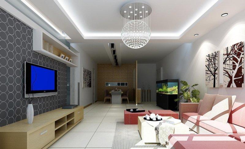 Современные люстры в гостиную