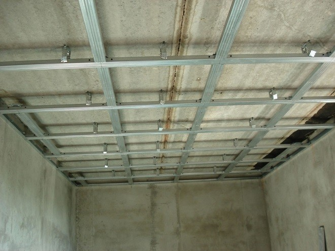 Технология установки каркаса для подвесных потолков