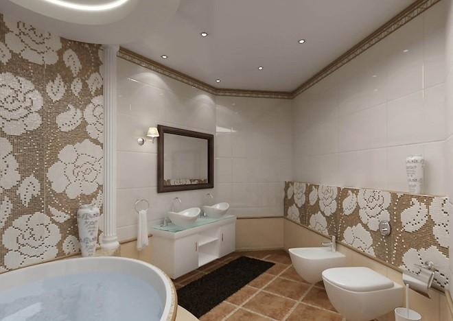 натяжные потолки в ванной расширяют пространственные границы
